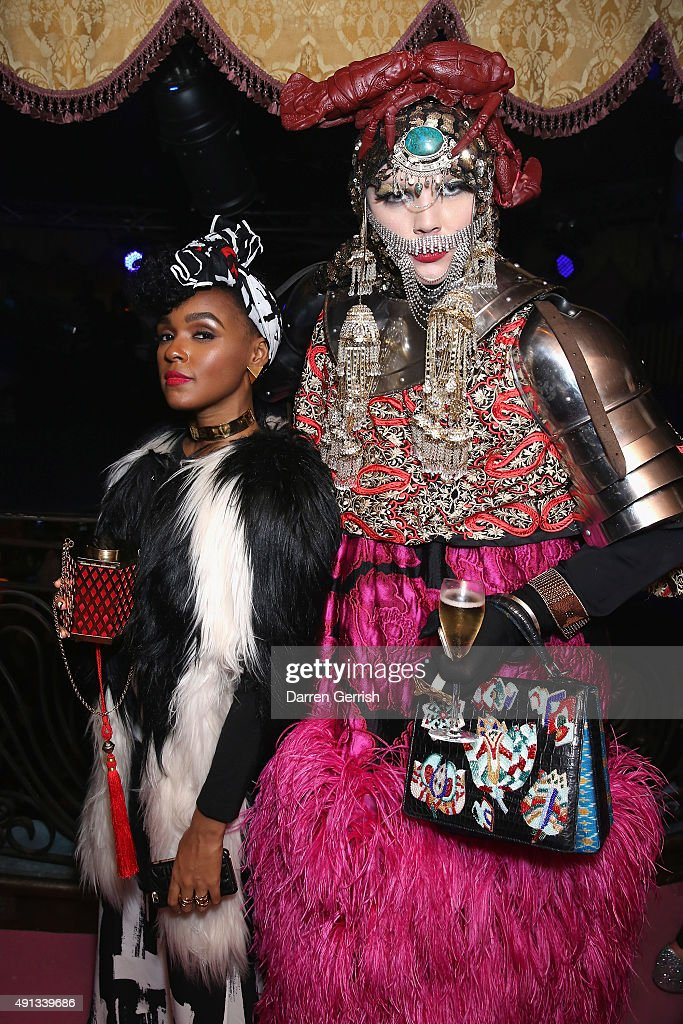 Janelle Monae and Daniel Lismore attend the Alexander McQueen/ AnOther Magazine After Partyas part of the Paris Fashion Week Womenswear Spring/Summer 2016 on October 4, 2015 in Paris, France.