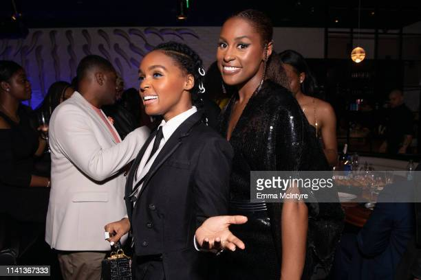 Janelle Monae and Issa Rae attend the after party for the premiere of Universal Pictures' Little on April 08 2019 in Los Angeles California