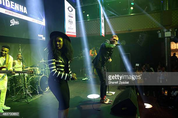 Janelle Monae and Jidenna at Stage 48 on August 11 2015 in New York City