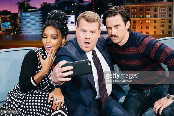 Janelle Monae and Milo Ventimiglia chat with James Corden during 'The Late Late Show with James Corden' Tuesday January 3 2017 On The CBS Television...
