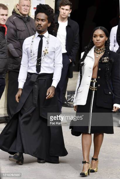 Janelle Monae and Nate Wonder attend the Chanel show as part of the Paris Fashion Week Womenswear Fall/Winter 2020/2021 on March 03 2020 in Paris...