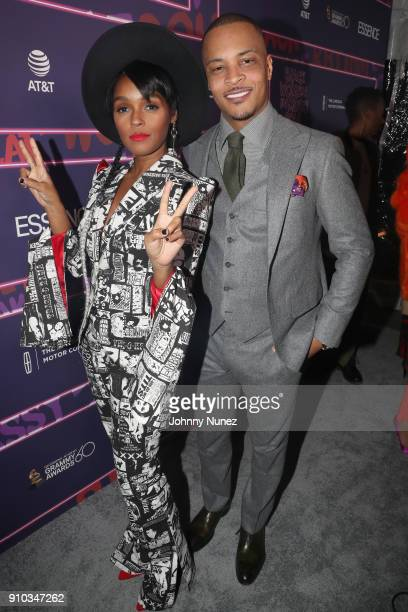 Janelle Monae and TI attends the Essence 9th annual Black Women in Music at Highline Ballroom on January 25 2018 in New York City