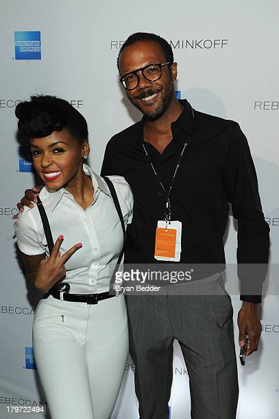 Janelle Monae and Walter Frye attend American Express UNSTAGED with Rebecca Minkoff And Janelle Monae at Lincoln Center on September 6 2013 in New...