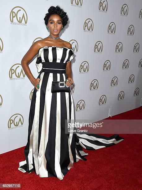 Janelle Monae arrives at the 28th Annual Producers Guild Awards at The Beverly Hilton Hotel on January 28 2017 in Beverly Hills California