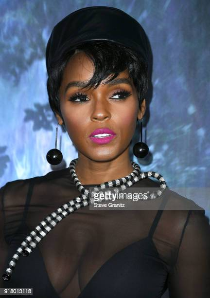 Janelle Monae arrives at the Premiere Of Paramount Pictures' 'Annihilation' at Regency Village Theatre on February 13 2018 in Westwood California