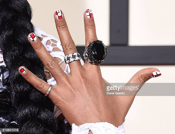 Janelle Monae arrives at the The 58th GRAMMY Awards at Staples Center on February 15 2016 in Los Angeles City