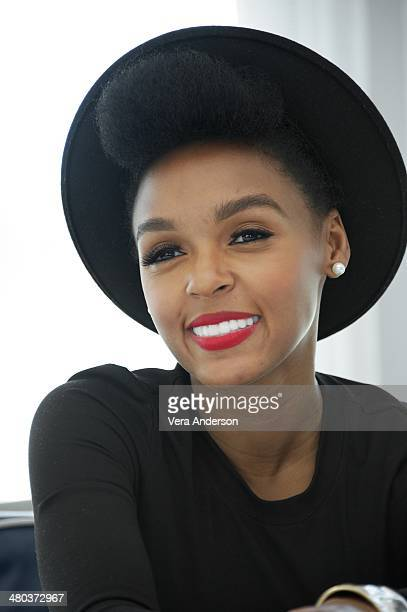 """Janelle Monae at the """"Rio 2"""" Press Conference at the Fontainebleau Hotel on March 23, 2014 in Miami Beach, Florida."""