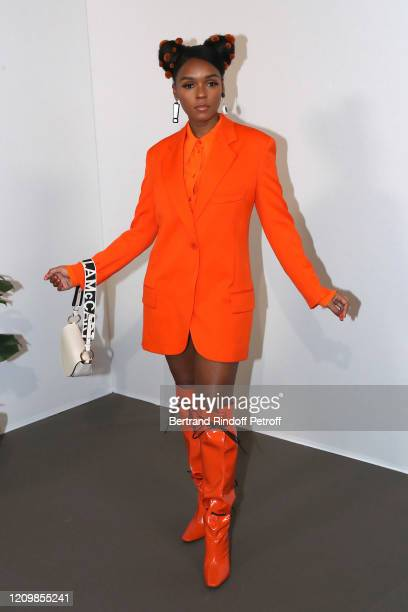 Janelle Monae attend the Stella McCartney show as part of the Paris Fashion Week Womenswear Fall/Winter 2020/2021 on March 02 2020 in Paris France
