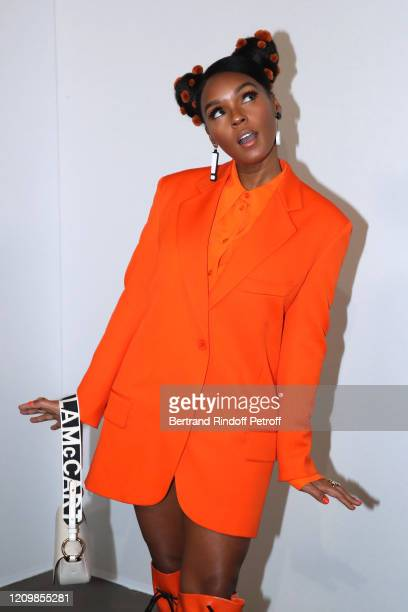 Janelle Monae attend the Stella McCartney show as part of the Paris Fashion Week Womenswear Fall/Winter 2020/2021 on March 02, 2020 in Paris, France.
