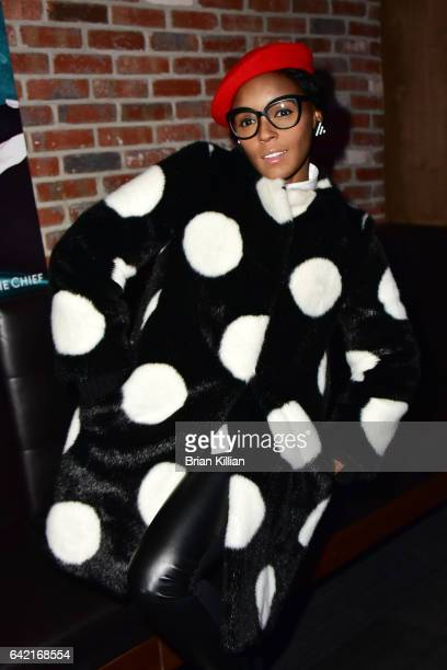 Janelle Monae attends a performance by Jidenna at Pepsi's The Sound Drop at Kola House on February 16 2017 in New York City