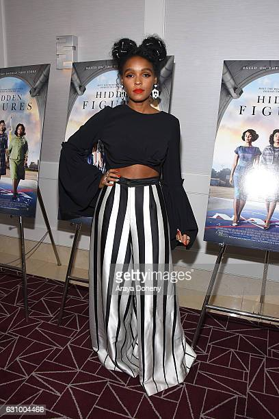 """Janelle Monae attends a screening and Q&A for 20th Century Fox's """"Hidden Figures"""" at The London West Hollywood on January 4, 2017 in West Hollywood,..."""