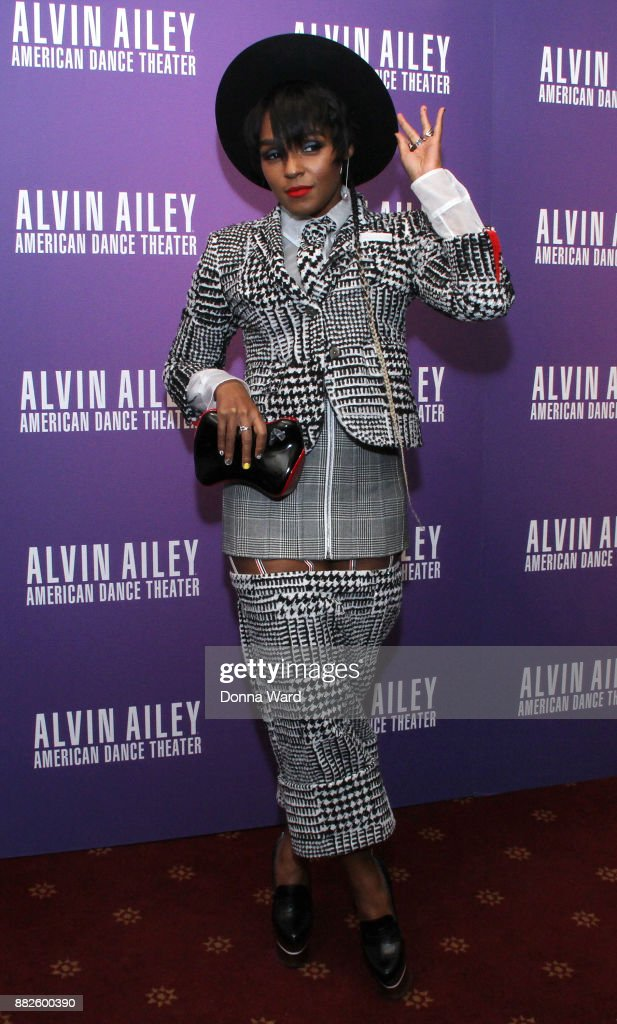 Janelle Monae attends Alvin Ailey's 2017 Opening Night Gala at New York City Center on November 29, 2017 in New York City.