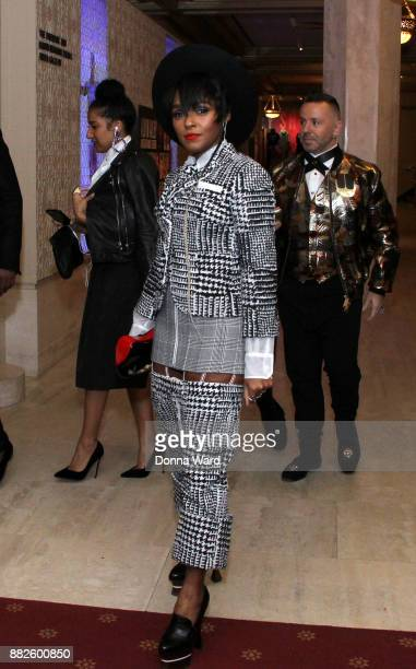 Janelle Monae attends Alvin Ailey's 2017 Opening Night Gala at New York City Center on November 29 2017 in New York City