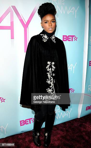 Janelle Monae attends BET's Rip The Runway 2010 at the Hammerstein Ballroom on February 27 2010 in New York City