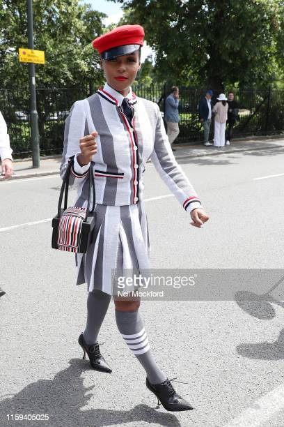 Janelle Monae attends day one of the Wimbledon 2019 Tennis Championships at All England Lawn Tennis and Croquet Club on July 01 2019 in London England
