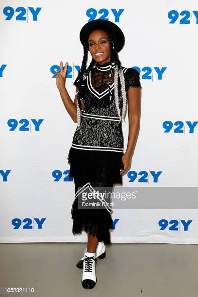 Janelle Monae attends Janelle Monae in Conversation with Brittany Spanos at 92nd Street Y on October 16, 2018 in New York City.