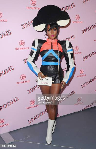 Janelle Monae attends Refinery29 29Rooms Los Angeles Turn It Into Art at ROW DTLA on December 6 2017 in Los Angeles California