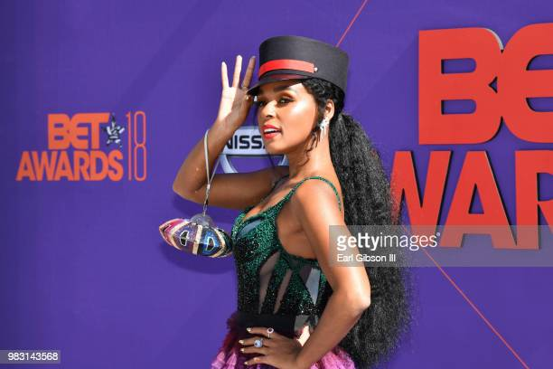Janelle Monae attends the 2018 BET Awards at Microsoft Theater on June 24 2018 in Los Angeles California