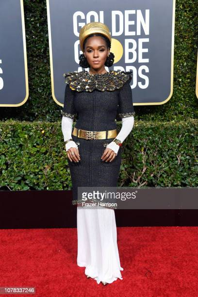 Janelle Monae attends the 76th Annual Golden Globe Awards at The Beverly Hilton Hotel on January 6 2019 in Beverly Hills California
