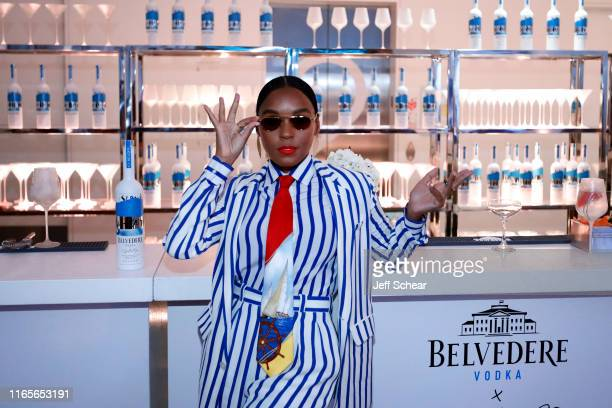 Janelle Monae attends the Belvedere Vodka x Janelle Monae celebration of the A Beautiful Future limited edition bottle in Chicago on August 01 2019...