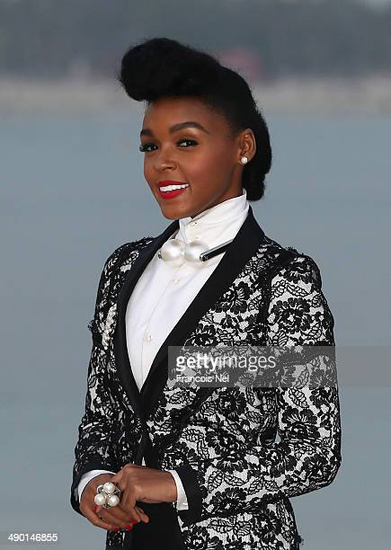 Janelle Monae attends the Chanel Cruise Collection 2014/2015 Photocall at The Island on May 13 2014 in Dubai United Arab Emirates