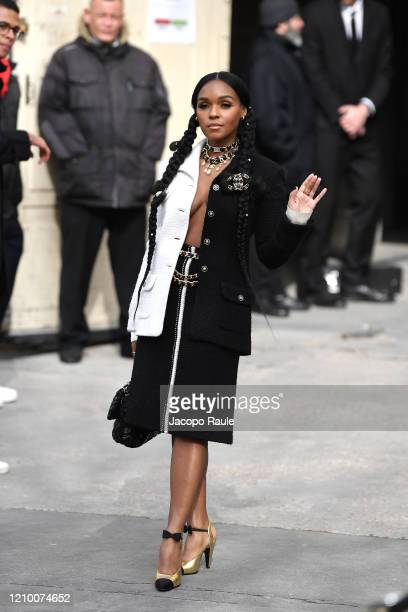 Janelle Monae attends the Chanel show as part of the Paris Fashion Week Womenswear Fall/Winter 2020/2021 on March 03 2020 in Paris France
