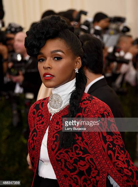"""Janelle Monae attends the """"Charles James: Beyond Fashion"""" Costume Institute Gala at the Metropolitan Museum of Art on May 5, 2014 in New York City."""