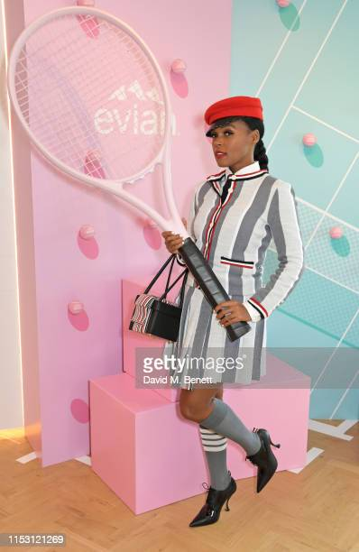 Janelle Monae attends the evian Live Young suite at The Championships, Wimbledon 2019 on July 1, 2019 in Wimbledon, England.