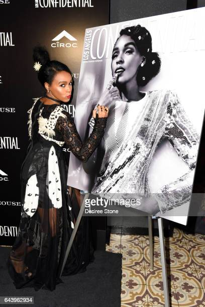 Janelle Monae attends the Los Angeles Confidential magazine and CIROC Ultra-Premium Vodka party to celebrate the Spring Oscars issue with Janelle...