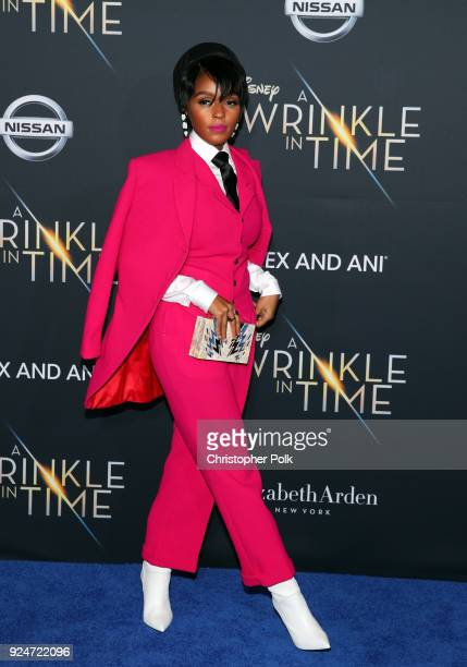 Janelle Monae attends the premiere of Disney's A Wrinkle In Time at the El Capitan Theatre on February 26 2018 in Los Angeles California