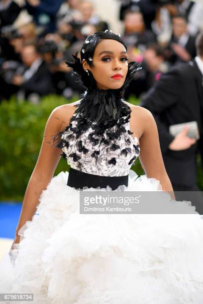 Janelle Monae attends the Rei Kawakubo/Comme des Garcons Art Of The InBetween Costume Institute Gala at Metropolitan Museum of Art on May 1 2017 in...