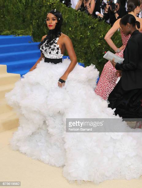 Janelle Monae attends the 'Rei Kawakubo/Comme des Garcons Art Of The InBetween' Costume Institute Gala at Metropolitan Museum of Art on May 1 2017 in...
