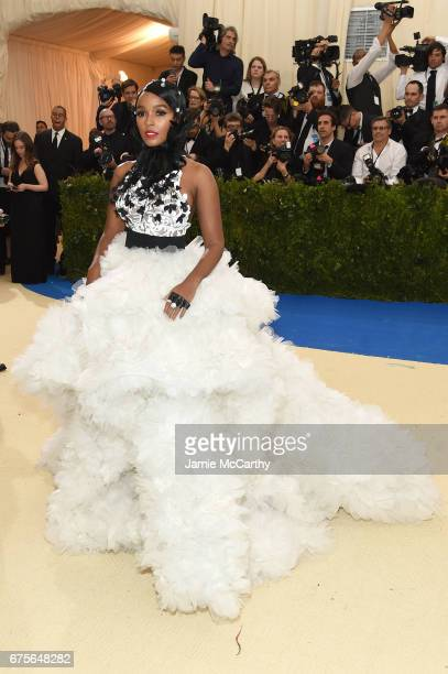 "Janelle Monae attends the ""Rei Kawakubo/Comme des Garcons: Art Of The In-Between"" Costume Institute Gala at Metropolitan Museum of Art on May 1, 2017..."