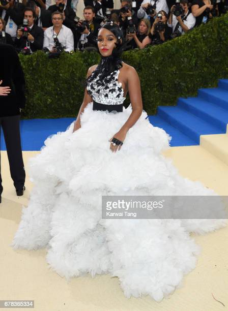 Janelle Monae attends the Rei Kawakubo/Comme des Garcons Art Of The InBetween Costume Institute Gala at the Metropolitan Museum of Art on May 1 2017...