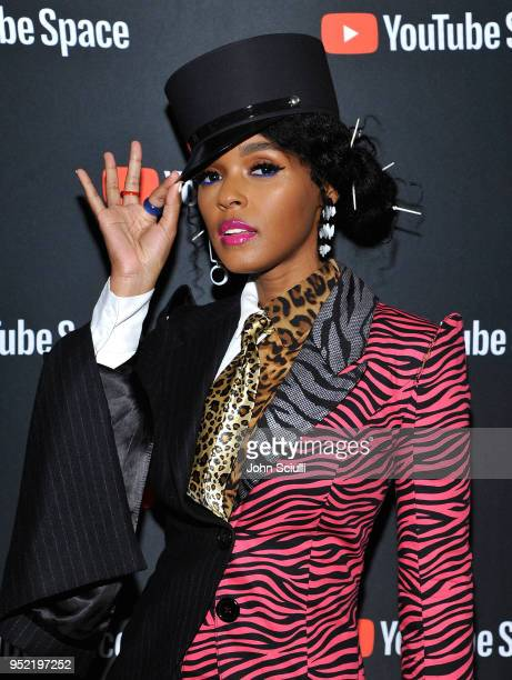 Janelle Monae attends the special screening presented by YouTube of Dirty Computer An Emotion Picture by Janelle Monae at YouTube Space LA on April...