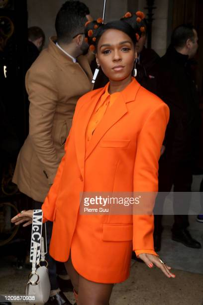 Janelle Monae attends the Stella McCartney show as part of the Paris Fashion Week Womenswear Fall/Winter 2020/2021 on March 02, 2020 in Paris, France.