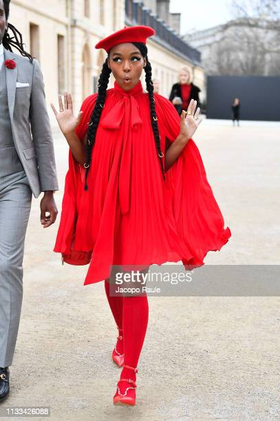 Janelle Monae attends the Valentino show as part of the Paris Fashion Week Womenswear Fall/Winter 2019/2020 on March 03 2019 in Paris France