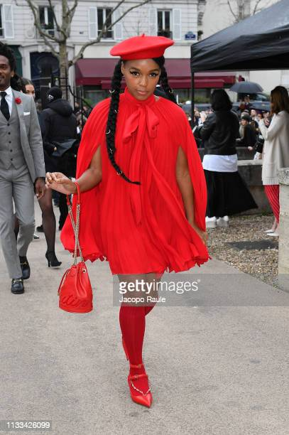 Janelle Monae attends the Valentino show as part of the Paris Fashion Week Womenswear Fall/Winter 2019/2020 on March 03, 2019 in Paris, France.