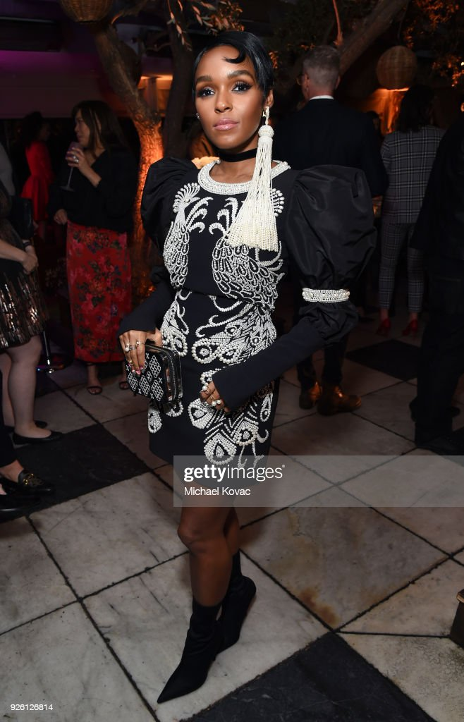 Janelle Monae celebrates with Belvedere Vodka at Vanity Fair and Lancome Paris Toast Women in Hollywood, hosted by Radhika Jones and Ava DuVernay, on March 1, 2018 in West Hollywood, California.