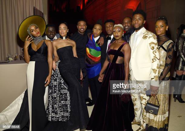 Janelle Monae Daniel Kaluuya Tessa Thompson Michael B Jordan Lena Waithe John Boyega Cynthia Erivo Chadwick Boseman and Letitia Wright attend the...