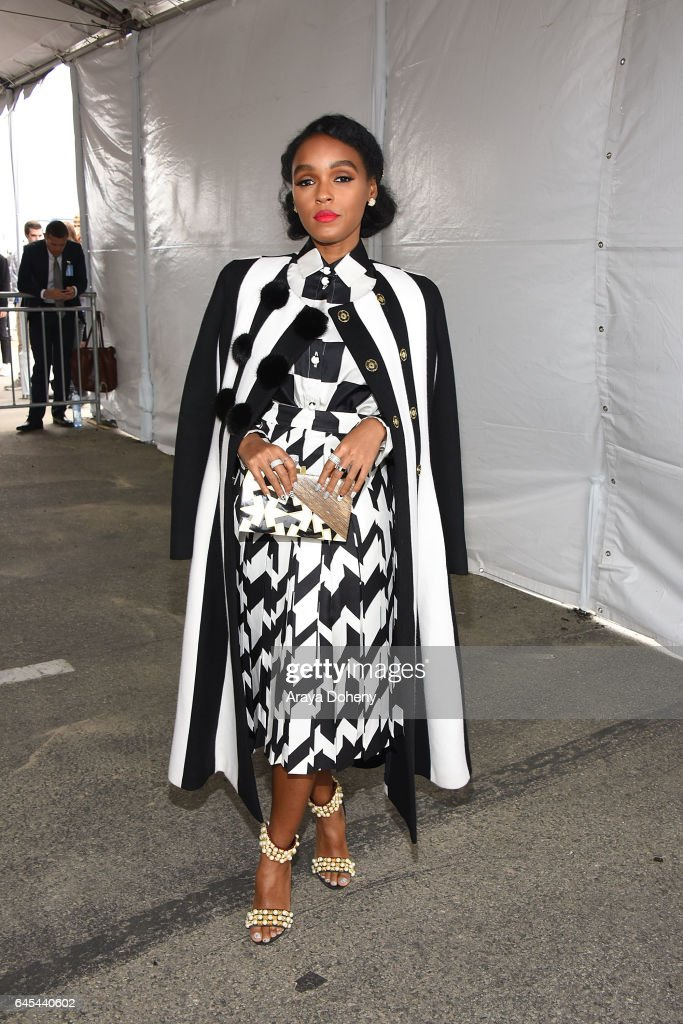 Janelle Monae during the 2017 Film Independent Spirit Awards at the Santa Monica Pier on February 25, 2017 in Santa Monica, California.