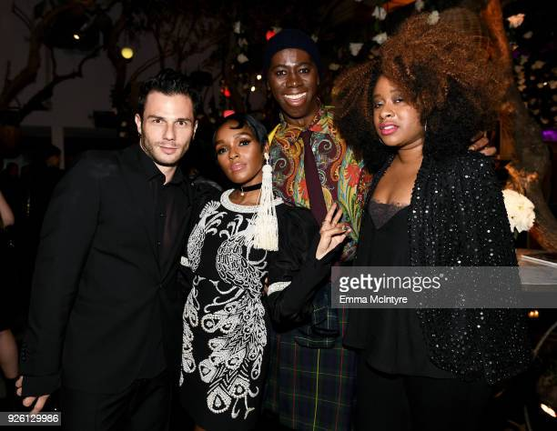 Janelle Monae J Alexander and Phoebe Robinson celebrate with Belvedere Vodka at Vanity Fair and Lancome Paris Toast Women in Hollywood hosted by...