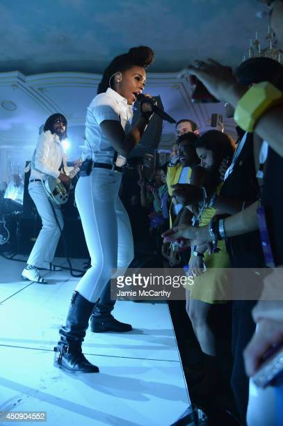 Janelle Monae performs an intimate show at The St Regis New York as part of the Starwood Preferred Guest Hear the Music See the World Concert Series...