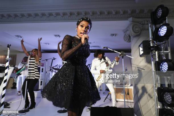 Janelle Monae performs as Lord Taylor celebrates The Dress Address with Janelle Monae at Lord Taylor 5th Avenue on March 23 2017 in New York City