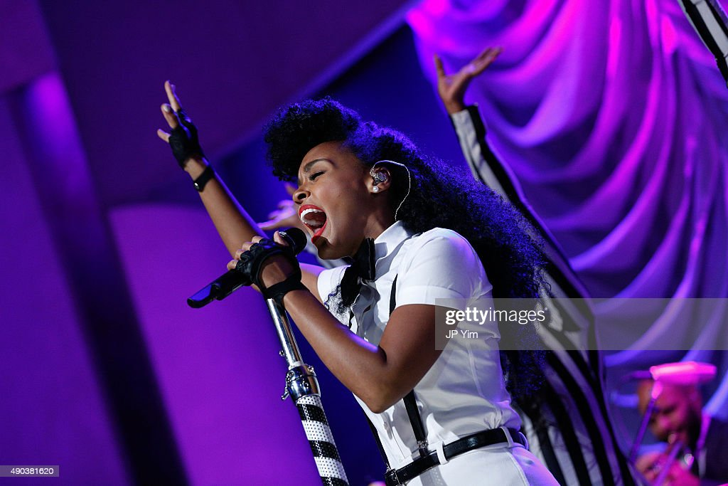 Janelle Monae performs at the Clinton Global Citizen Awards during the second day of the 2015 Clinton Global Initiative's Annual Meeting at the Sheraton New York Hotel & Towers on September 27, 2015 in New York City.