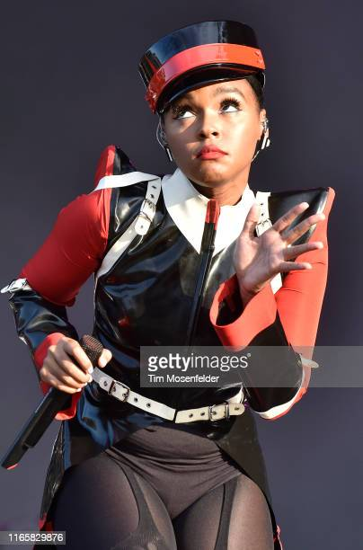 Janelle Monae performs during 2019 Lollapalooza day two at Grant Park on August 02 2019 in Chicago Illinois