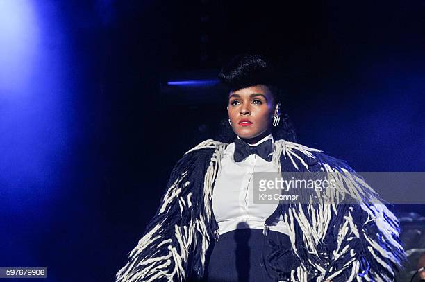 Janelle Monae performs during the 12th Annual Afropunk Brooklyn Festival at Commodore Barry Park on August 28 2016 in New York City