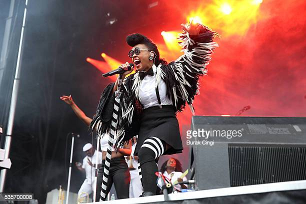 Janelle Monae performs live on day 3 of Boston Calling festival at Boston City Hall Plaza on May 29 2016 in Boston Massachusetts