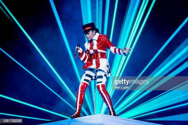Janelle Monae performs live on stage at The Roundhouse on September 11 2018 in London England
