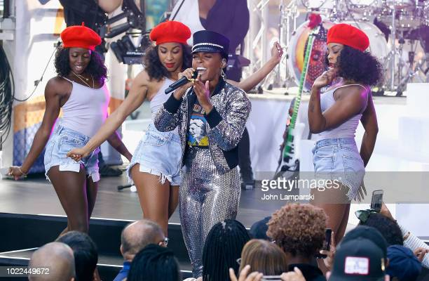 Janelle Monae performs on NBC's Today at Rockefeller Plaza on August 24 2018 in New York City